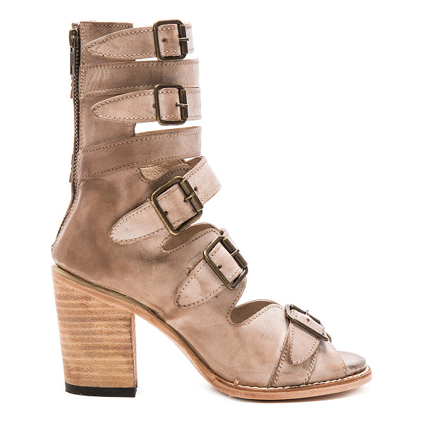 FREEBIRD BY STEVEN Bond - Leather upper and sole. Front buckle closures. Back zip...