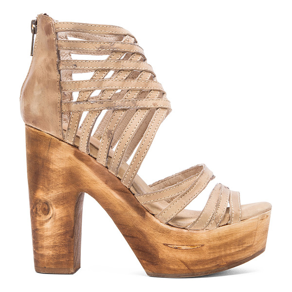"""FREEBIRD BY STEVEN Costa heel - Leather upper with man made sole. Heel measures approx 5""""""""..."""
