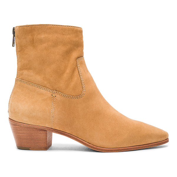 FRYE Ellen Short Bootie - Suede upper with rubber sole. Back zip closure.