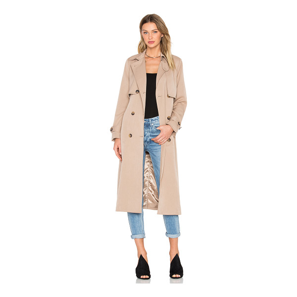 GANNI Brown trench coat - Self: 65% poly 30% viscose 5% elastaneLining: 100% poly....