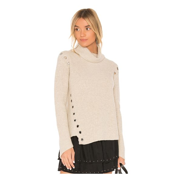 GENERATION LOVE Ambrose Cashmere Sweater - Cashmere blend. Dry clean only. Silver tone grommet...