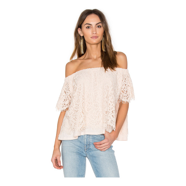 GENERATION LOVE Carly Lace Top - Self: 70% cotton 30% nylonLining: 100% pima cotton. Dry...