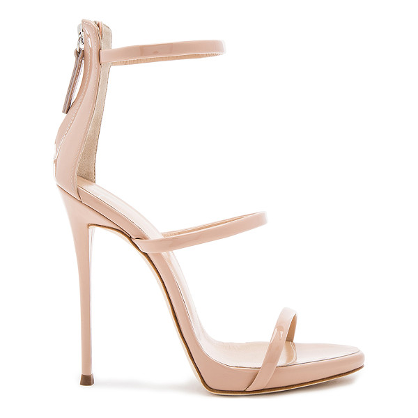 GIUSEPPE ZANOTTI Coline Heel - Patent leather upper with leather sole. Back zip closure....