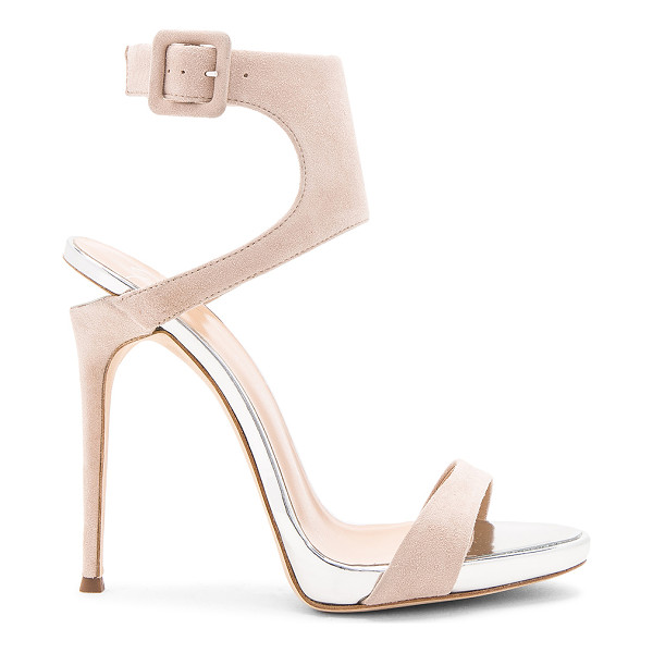 GIUSEPPE ZANOTTI Coline Heel - Suede upper with leather sole. Ankle strap with buckle