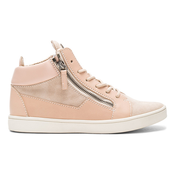 GIUSEPPE ZANOTTI Maylondon Sneaker - Leather and suede upper with rubber sole. Lace-up front....