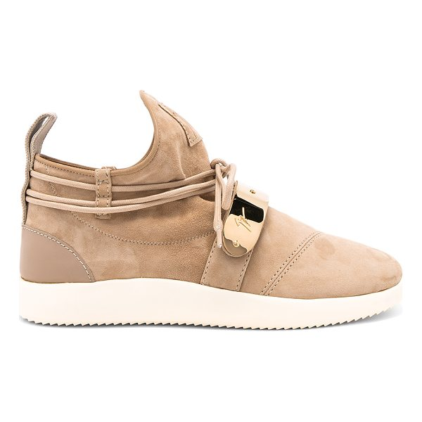 GIUSEPPE ZANOTTI Singles Sneaker - Suede upper with rubber sole. Wrap around laces with tie...