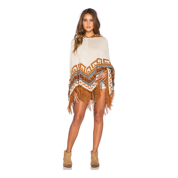 GODDIS Maddie poncho - 50% cotton 50% acrylic. Dry clean only. Fringe trim....