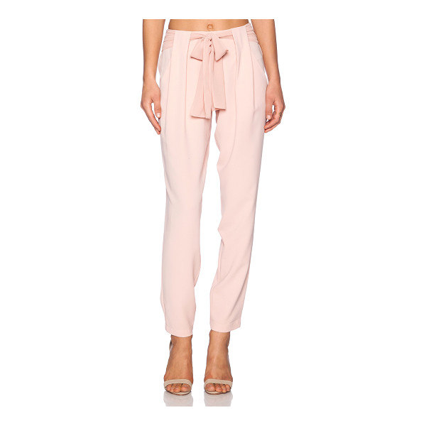 "GREYLIN Talia belted pants - 100% poly. Dry clean only. 18"""" in the knee narrows to 13""""..."