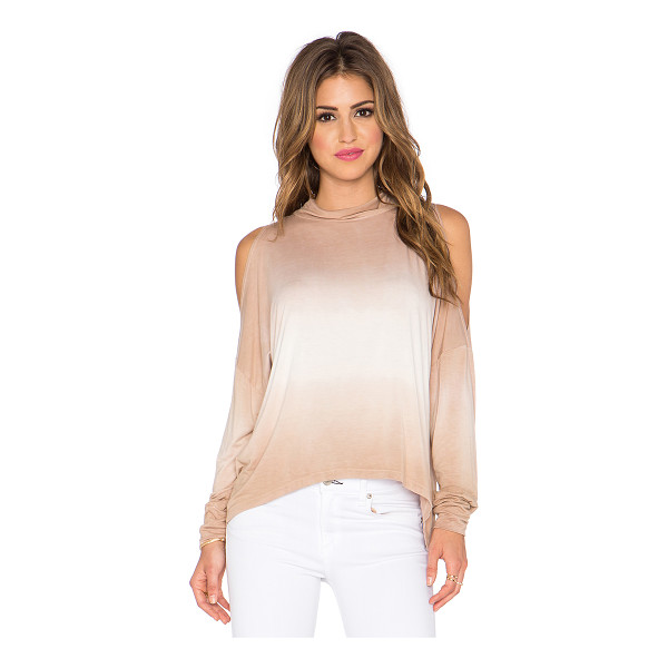 GYPSY 05 Open shoulder top - 93% bamboo 7% spandex. Cut-out detail. Back button...