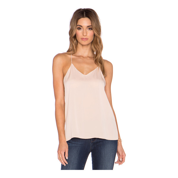 HALSTON Cami - 92% silk 8% spandex. Dry clean only. Racerback. Back seam...