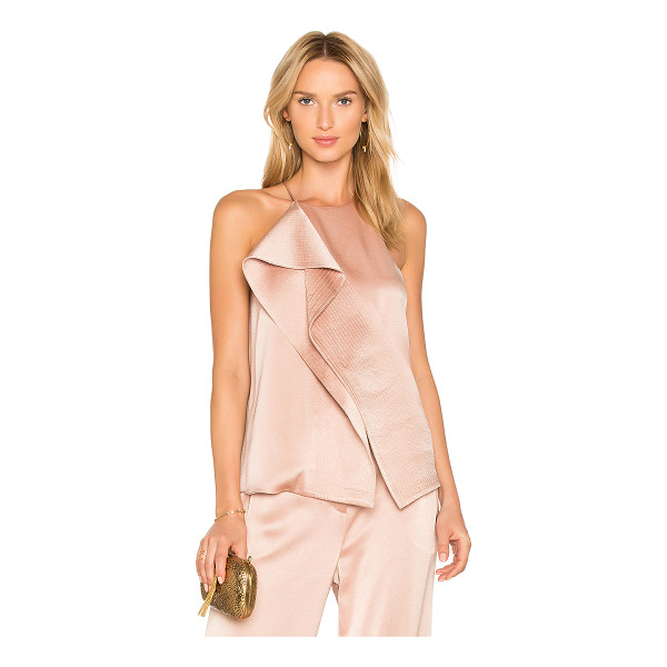 HALSTON Draped Top - Self: 75% triacetate 25% polyLining: 100% poly. Dry clean...