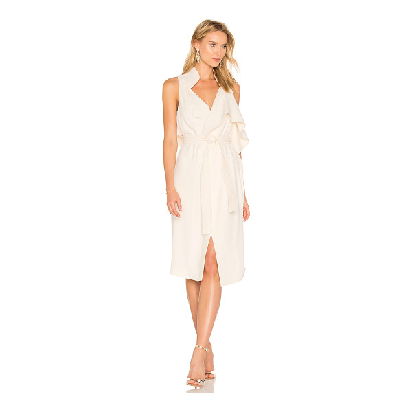 HALSTON Draped Wrap Dress - Self & Lining: 100% poly. Dry clean only. Fully lined....