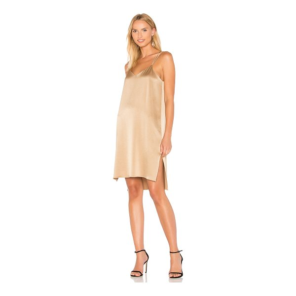 HALSTON Slip Dress - Poly blend. Dry clean only. Fully lined. Side seam slits....