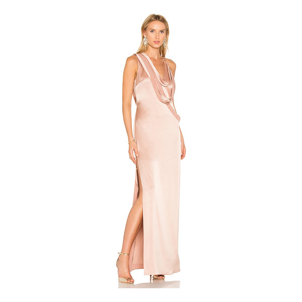 HALSTON Slip Gown - Self & Contrast: 75% triacetate 25% polyLining: 100% poly....