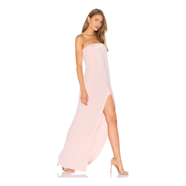 """HALSTON Strapless Gown - """"Shell: 75% triacetate 25% polyLining 1: 100% polyLining 2:..."""