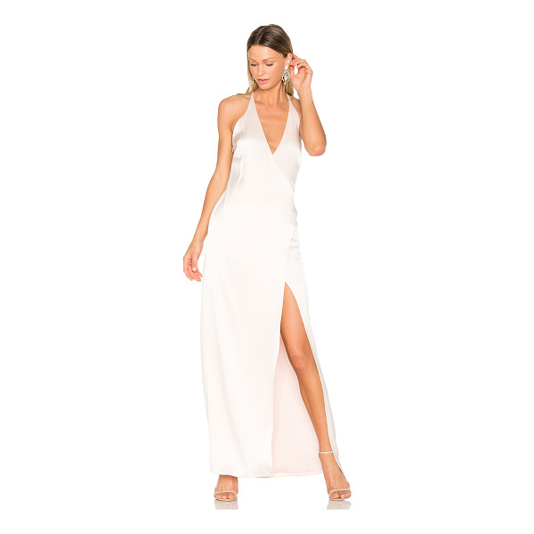 HALSTON V Neck Slip Gown - Self: 75% triacetate 25% polyLining: 100% poly. Dry clean...