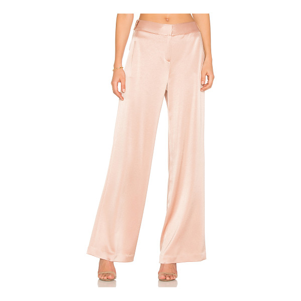 HALSTON Wide Leg Pant - Self: 75% triacetate 25% polyLining: 100% poly. Dry clean...
