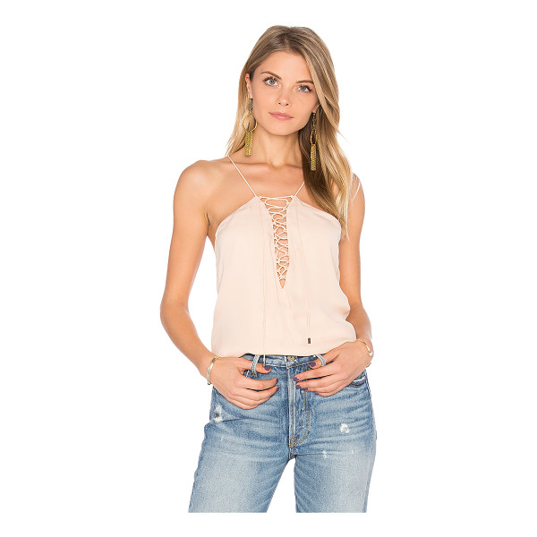HAUTE HIPPIE Cross My Heart Cami - Shell: 100% silkLining: 95% poly 5% spandex. Dry clean...