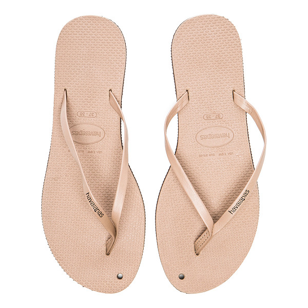 HAVAIANAS You Flip Flop - Faux leather upper with rubber sole. HAVA-WZ155. 4133206....