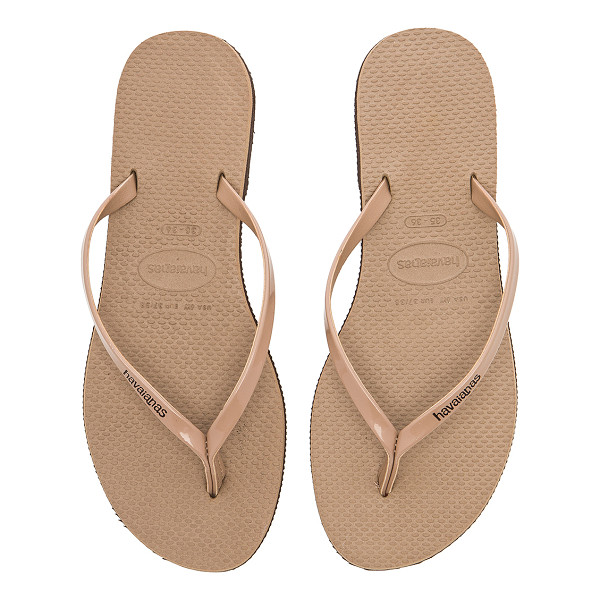 HAVAIANAS You Metallic Sandal - Rubber upper and sole. HAVA-WZ180. 4135102. Summer maybe be