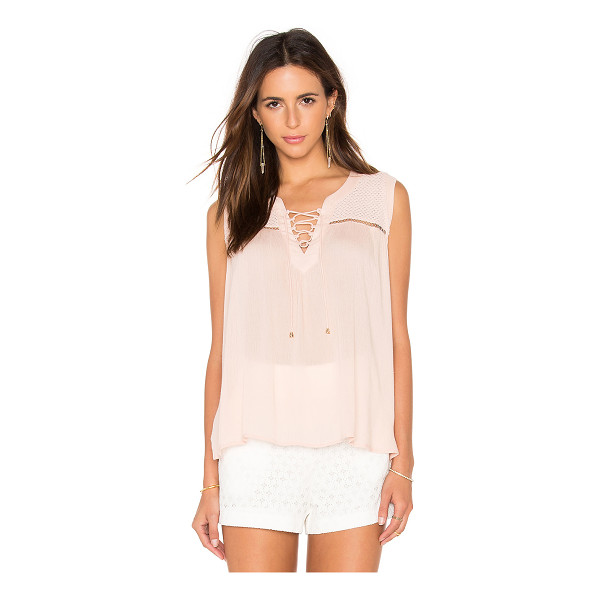 HEARTLOOM Abri Top - Self: 100% rayonTrim: 100% cotton. Front lace-up tie...