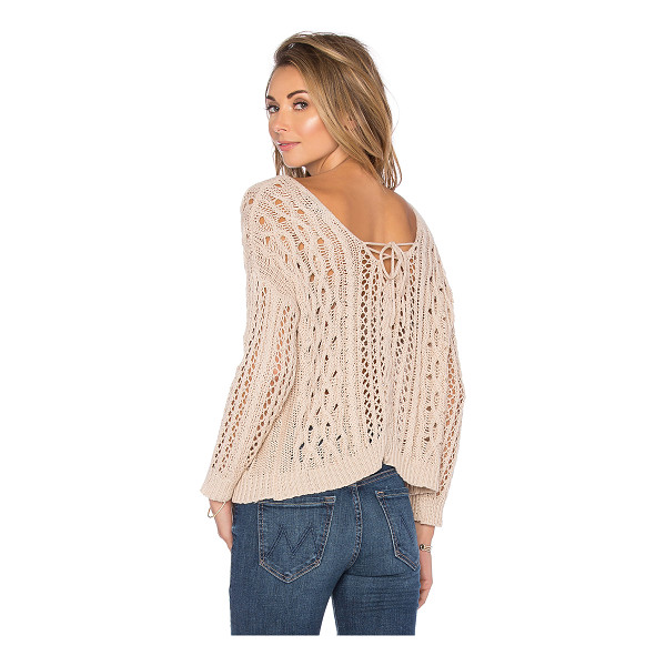 HEARTLOOM Melia sweater - Cotton blend. Front lace-up tie closures. Ribbed trim....