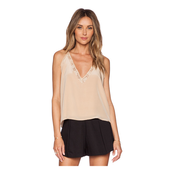 HELENA QUINN Cara tank - Self: 100% silkLining: 100% poly. Dry clean only. Keyhole...