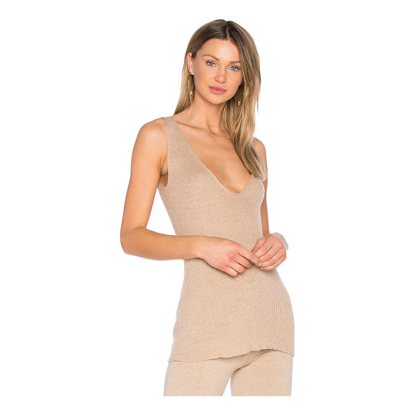 HELFRICH Blaine Tank - 85% cotton 15% cashmere. Dry clean only. Rib knit fabric....