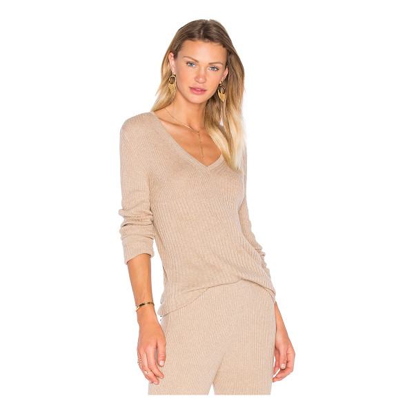 HELFRICH Mimi V Neck Sweater - 85% cotton 15% cashmere. Dry clean only. Rib knit fabric....