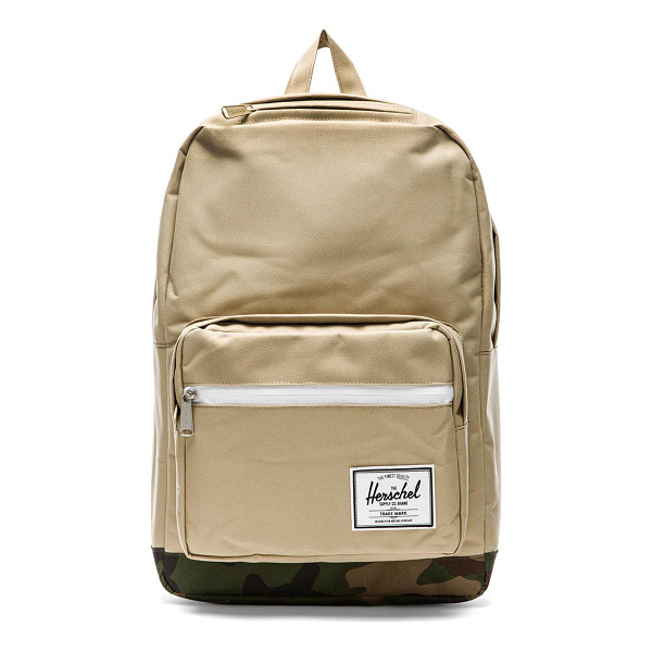 HERSCHEL SUPPLY CO. Pop quiz - Poly fabric exterior with printed poly lining. Measures...