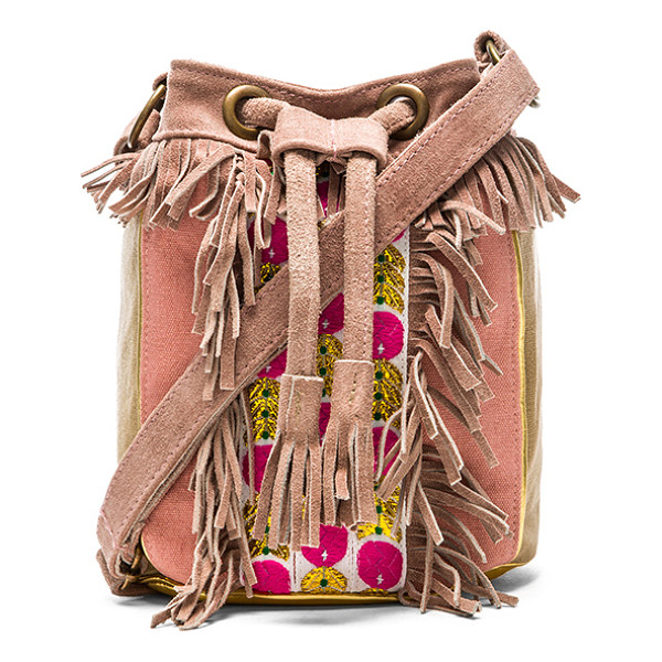 HIPANEMA X amenapih cheyenne crossbody - Canvas and leather exterior with poly fabric lining....