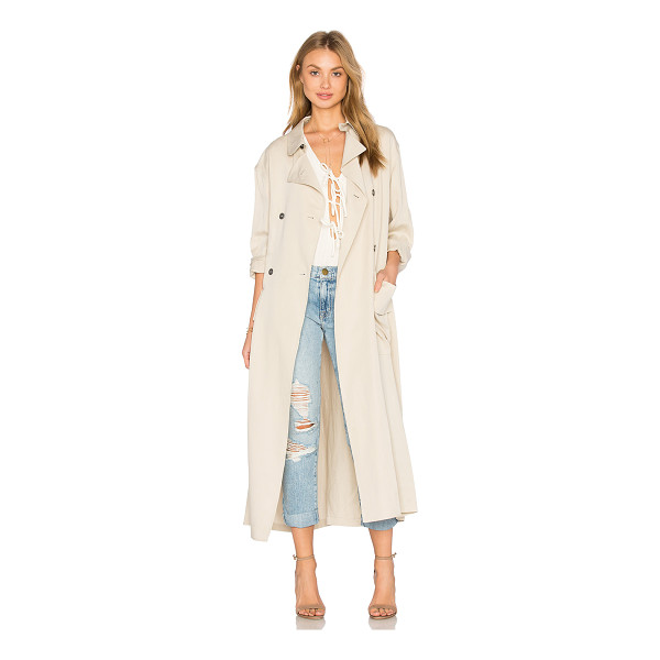 HOSS INTROPIA Trench Coat - 90% lyocell 10% linen. Hand wash cold. Front button...