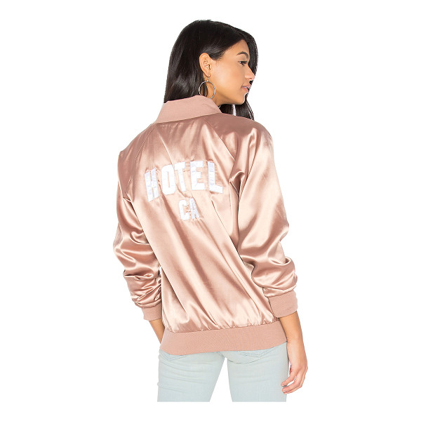 HOTEL 1171 1171  CA Satin Bomber - Shell & Lining: 100% poly. Dry clean only. Front zipper...