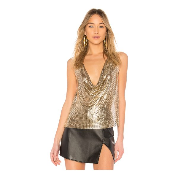 H:OURS Ellie Top - 100% aluminum. Do not wash. Gold tone chain link top....