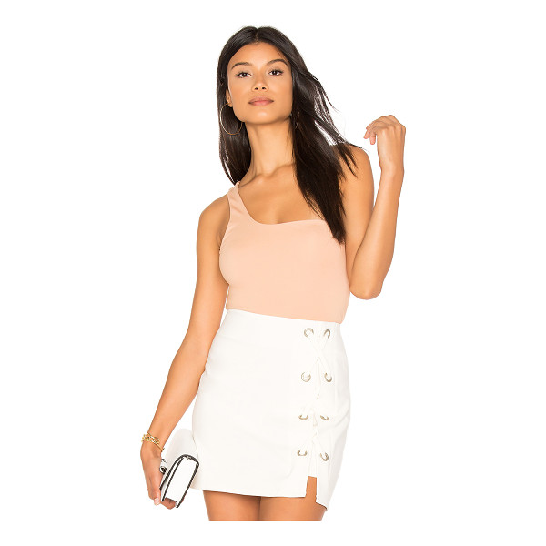 H:OURS One Shoulder Bodysuit - Self: 60% rayon 35% nylon 5% spandexLining: 95% poly 5%...