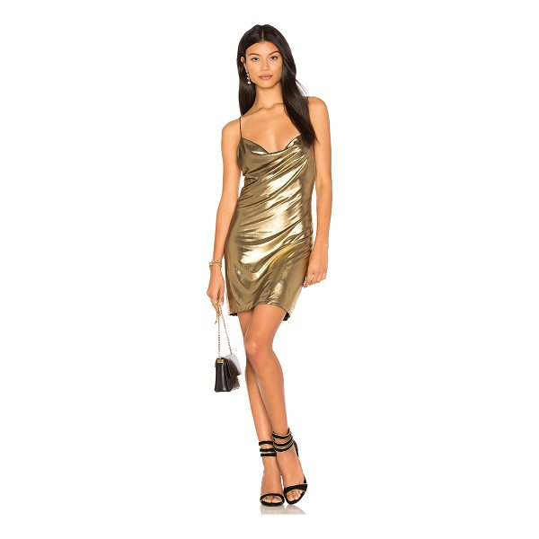 H:OURS Willa Chainmail Dress - Lurex blend. Hand wash cold. Fully lined. Draped front...