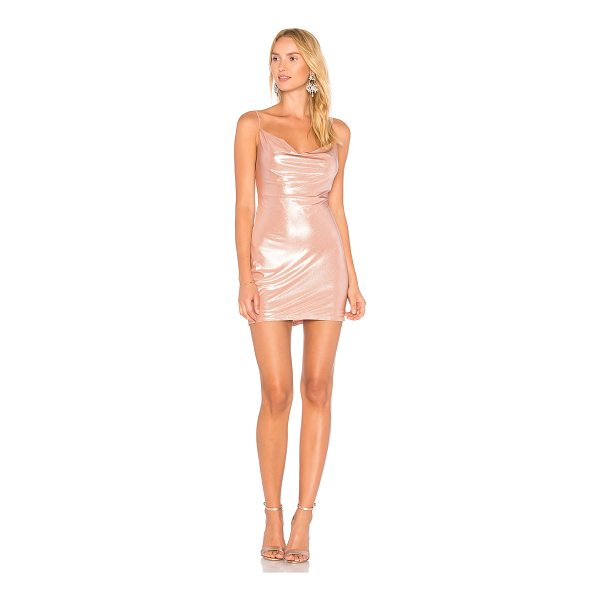 H:OURS x REVOLVE Willa Slip Dress - Poly blend. Dry clean only. Fully lined. Draped neckline....