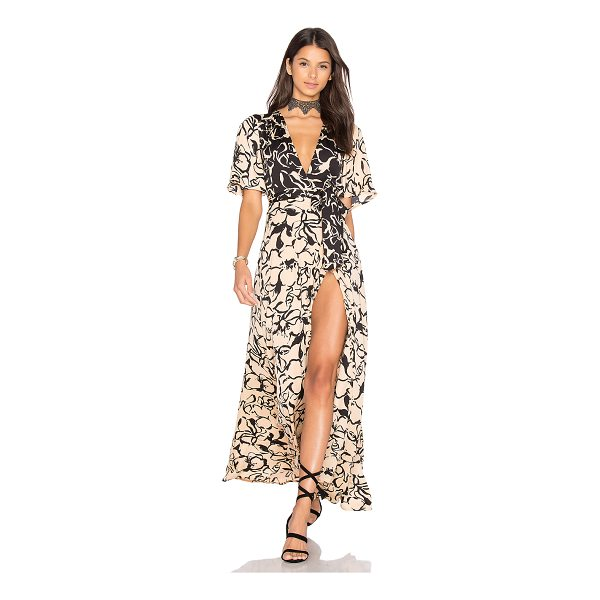 HOUSE OF HARLOW 1960 1960 x REVOLVE Blaire Maxi - 100% poly. Hand wash cold. Unlined. Wrap front with tie...