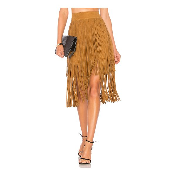 "HOUSE OF HARLOW 1960 x REVOLVE Lori Skirt - ""Poly blend. Dry clean only. Fully lined. Tiered fringe..."