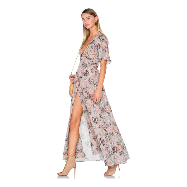 HOUSE OF HARLOW 1960 x REVOLVE Blaire Wrap Maxi - 100% poly. Hand wash cold. Unlined. Wrap front with tie...