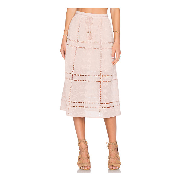 HOUSE OF HARLOW 1960 x REVOLVE Callie Midi Skirt - 100% poly. Hand wash cold. Partially lined. Waist tie with...