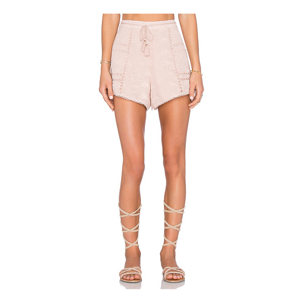 """HOUSE OF HARLOW 1960 x REVOLVE Grace Short - """"100% poly. Hand wash cold. Waist tie with tassel accents...."""
