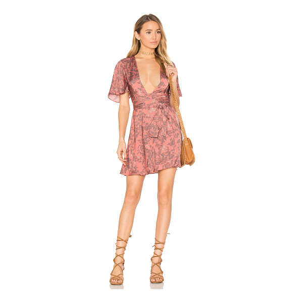 HOUSE OF HARLOW 1960 x REVOLVE Harper Wrap Dress - 100% poly. Hand wash cold. Unlined. Wrap front with tie...