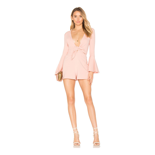 "HOUSE OF HARLOW 1960 x REVOLVE Lennox Romper - ""95% cotton 5% spandex. Dry clean only. Front tie closure...."