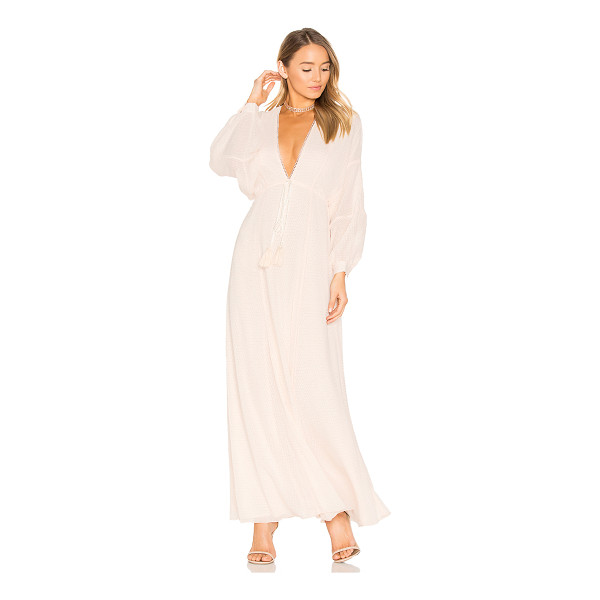 HOUSE OF HARLOW 1960 1960 x REVOLVE Leslie Maxi Dress - 100% poly. Hand wash. Fully lined. Drawstring waist with...