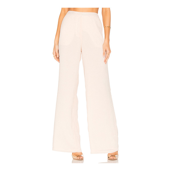 "HOUSE OF HARLOW 1960 x REVOLVE Mona Pants - ""100% poly. Hand wash. Hook and bar front closure. Side..."