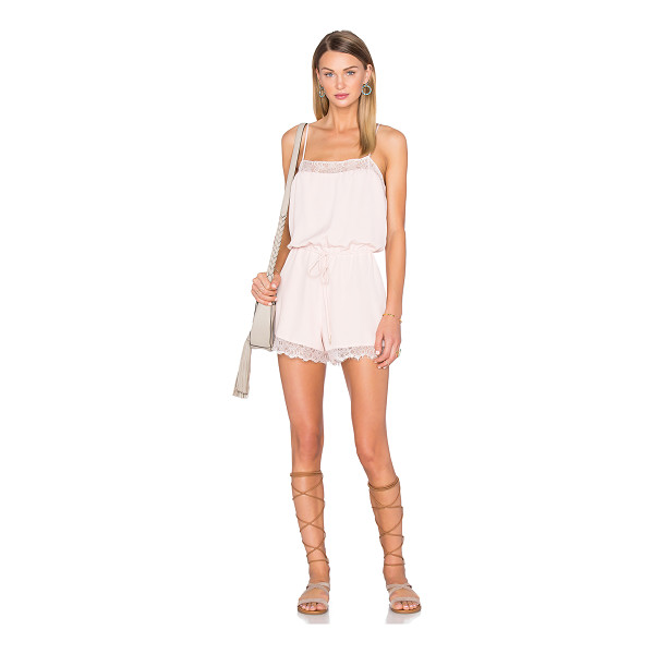 HOUSE OF HARLOW 1960 x REVOLVE Nora Lace Detail Romper - 100% poly. Hand wash cold. Adjustable shoulder straps....