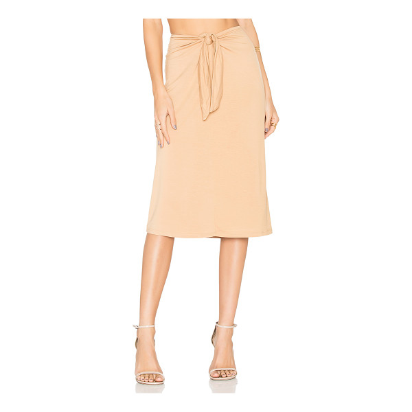 HOUSE OF HARLOW 1960 x REVOLVE Tina Midi Skirt - 92% rayon 8% elastane. Hand wash cold. Fully lined. Knotted