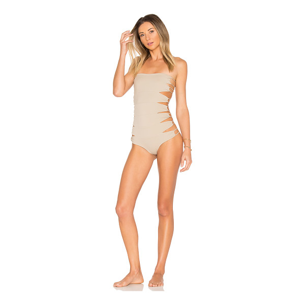 INDAH Au Natural One Piece - 80% polyamide 20% elastane. Hand wash cold. Stretch fit....