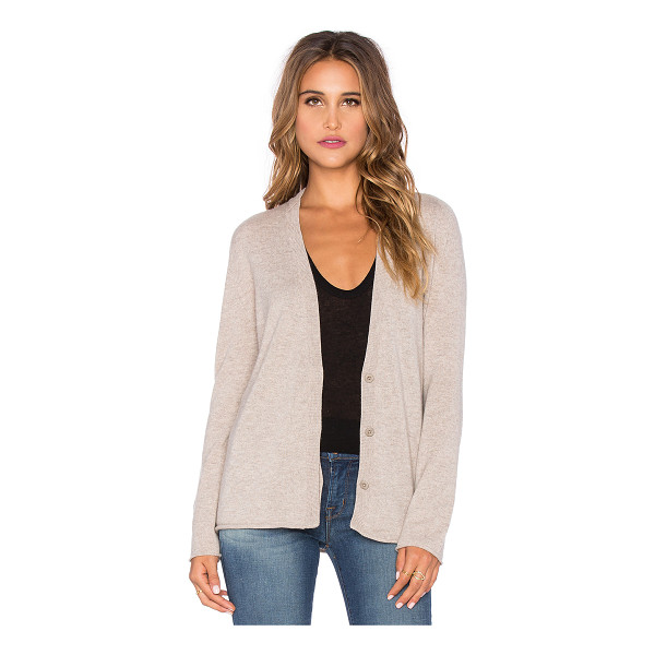 INHABIT Cashmere zip sleeve cardigan - 100% cashmere. Dry clean only. Front button closures....
